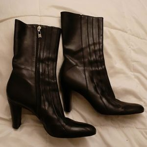 Arturo Chiang black leather calf-high boots sz 10M